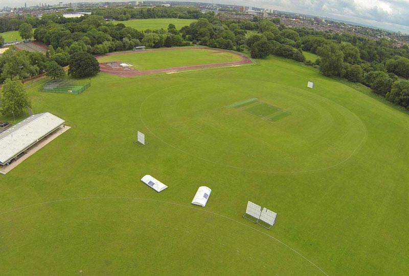 Aerial shot of sports ground